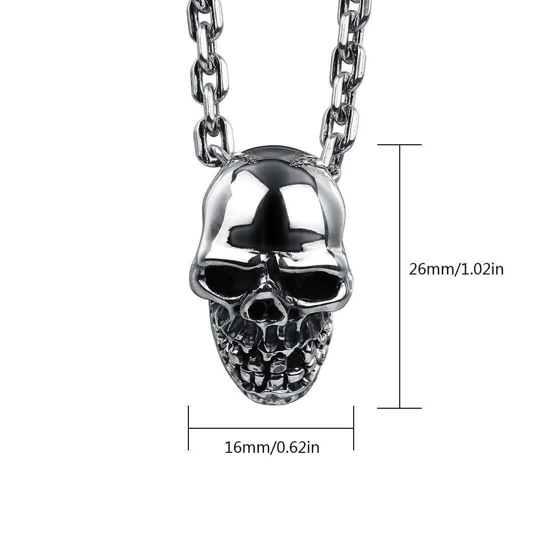 Rock/&Ride Pendentif en argent /à la main pendentif en argent squelette Skeleton S925