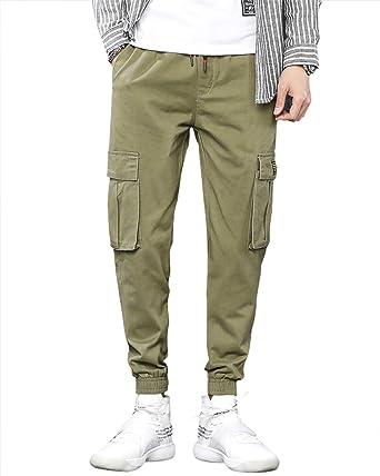 48847ec42a778 Amazon   カーゴパンツ メンズ ロングパンツ 多機能 おしゃれ ゆったり ズボン ワークパンツ ストレッチ 6ポケット 綿100 作業ボトムス    ロングパンツ 通販