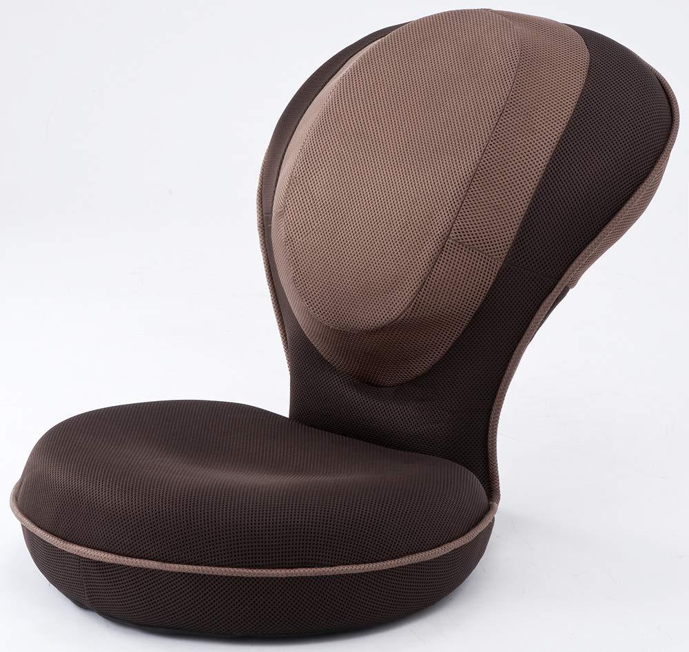 背筋がGUUUN 美姿勢座椅子 ブラウン(姿勢補正+体の歪みストレッチ座椅子) B006ZF14XQ