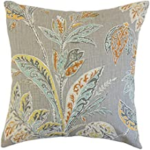 the pillow collection p18flat pt vinaya tumeric l100 taja floral throw turmeric - The Pillow Collection