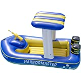 "Swimline Patrol Boat Squirter Inflatable Pool Toy, Blue, White, Yellow, 67"" x 36"" x 36"""