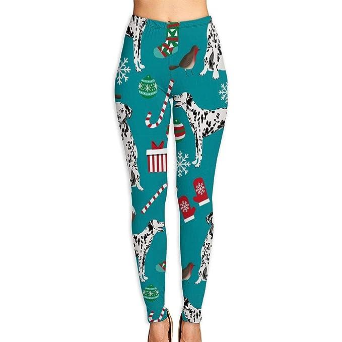 Amazon.com: KOPTZA Dalmatian Perros Navidad Yoga Pantalones ...