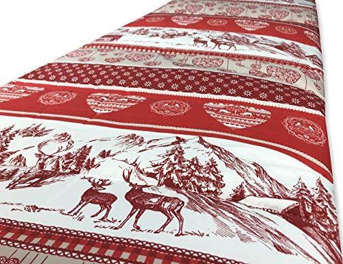 Tex Family Couvre-lit matelassé flocon © GERMAGNANO tyrolien rouge fabriqué en Italie 2 PIAZZE rouge