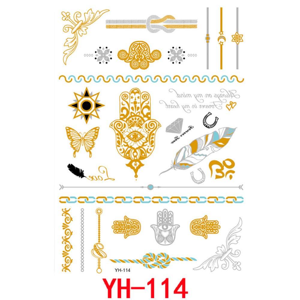 9 piezas brazo robótico calamar flor lindo pequeño tatuaje fresco ...