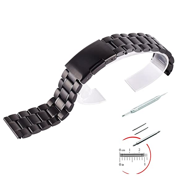 VIMVIP 22mm Stainless Steel Watch Band For Samsung Galaxy Gear 2 R380, Gear 2 Neo R381, Gear 2 Live R382, LG G Watch W100, W110+ 3 Stainless Steel ...