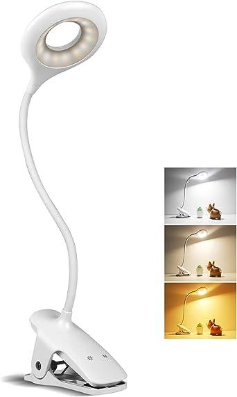 Leselampe LED Klemmleuchte Dimmbar Bettlampe Schreibtischleuchte NachttischLampe