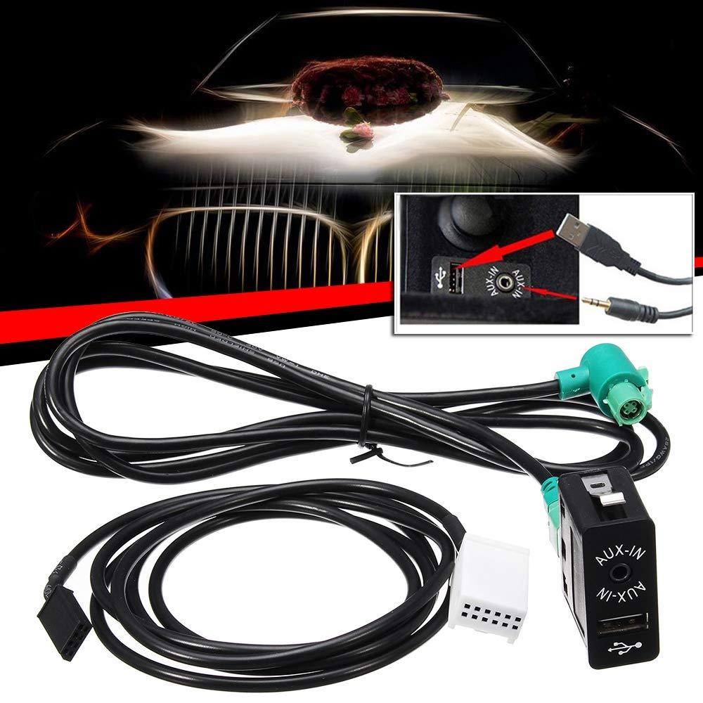 TOOGOO Auto Cd Wechsler Spieler Audio Aux Audio Kabelbaum Schalter Taste Fuer E60 E61 E63 E64 E87 E90 E70 F25