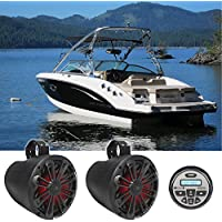 MB Quart GMR-2.5 Bluetooth Gauge Receiver+(2) 8 LED Wakeboard Tower Speakers