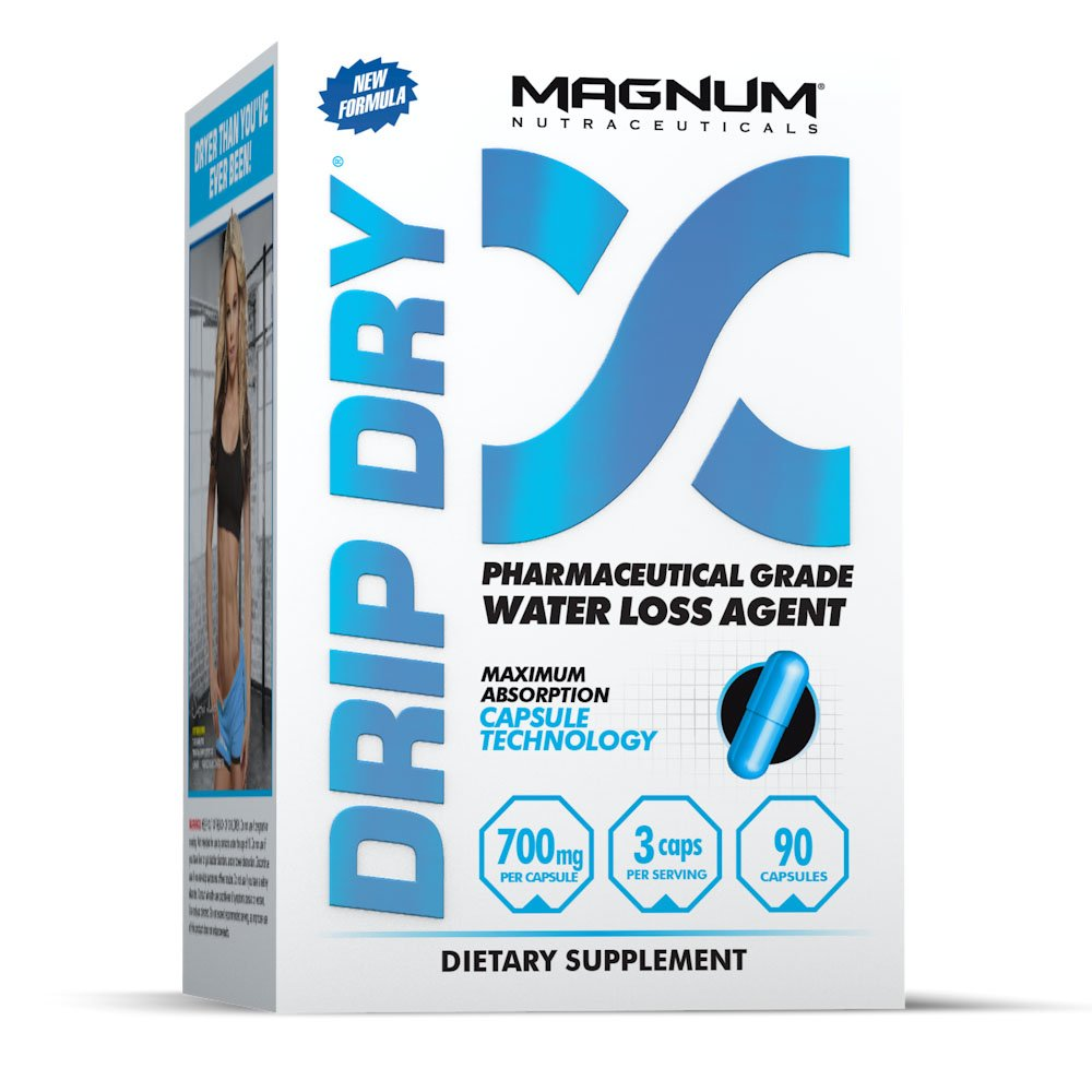 Magnum Nutraceuticals Drip-Dry - 90 Capsules - Reduce Water Weight - Defines Lean Muscle - Strong Natural Diuretic - Define Lean Muscle - Eliminates Muscle Cramps by Magnum