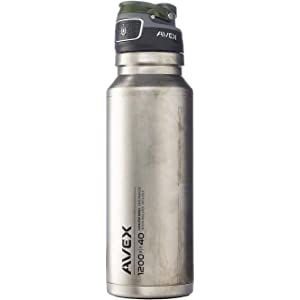 5d0b5a86ce Amazon.com : Avex FreeFlow Autoseal Water Bottle, Ice, 1000ml/34 oz ...