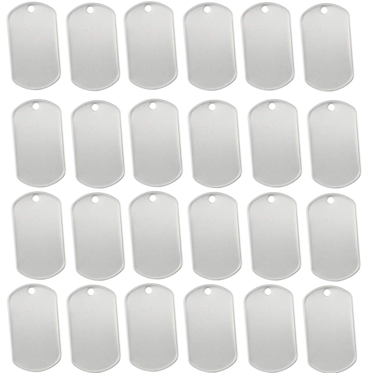 Pack of 100 Orgrimmar 100 pcs Shiny Stainless Steel Military spec Rolled Edge Backing Dog Tags Blank (Pack of 100)