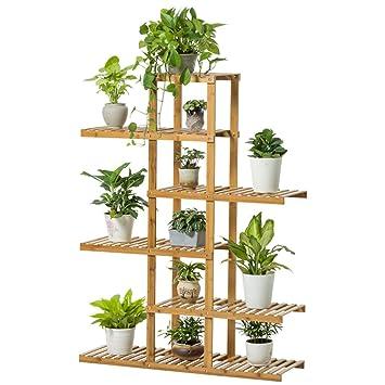6 Tiers Bambou Fleur/Plantes/Étagère Jardin Plante Affichage pour ...