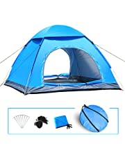 3-4 Man Automatic Pop Up Tent Outdoor Hiking Waterproof Camping Fishing UK Blue
