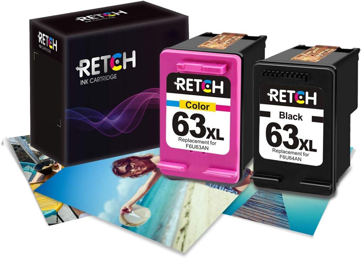 Amazon.com: RETCH Re-Manufactured HP Ink Cartridge 63 ...
