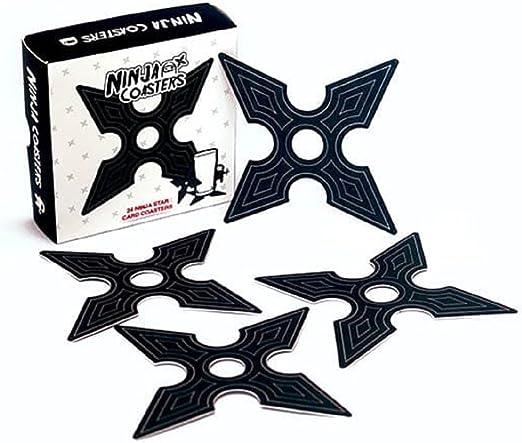 Amazon.com: Gift Republic GR450042 Ninja Coasters, Medium ...