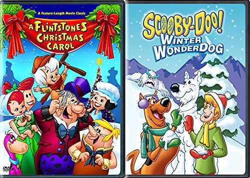 A Flintstones Christmas Carol & Scooby Doo Winter Wonderdog HANNA BARBERA Double Feature Animated cartoon Holiday 2-pack (Ducktales Carol Christmas)