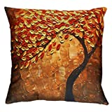 Decorative Pillow Cover - Vovomay Linen blend Home Decorative Throw Pillow Cover Cushion Case Square Pillowslip for Home Decor 18 X 18'' (Orange)