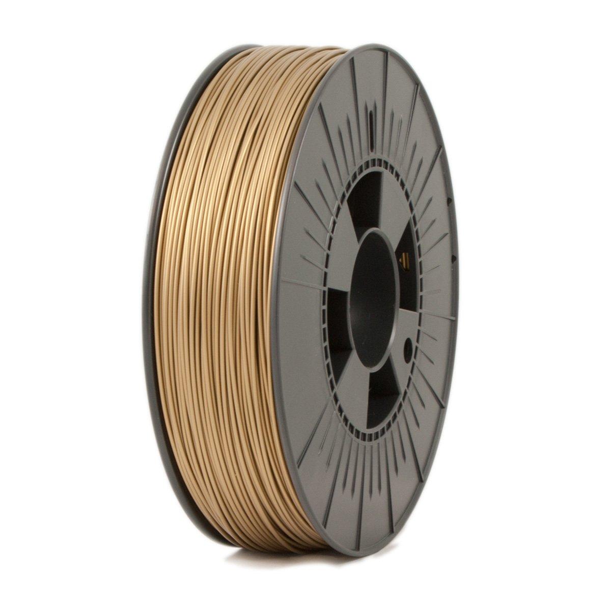 Ice Filaments ICEFIL1PLA107 Filamento PLA, 1,75 mm, 0,75 kg, Dorado Oscuro