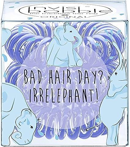 Invisibobble Colección Circus Original Bad Hair Day? Irrelephant Set de 3gomas para cabello