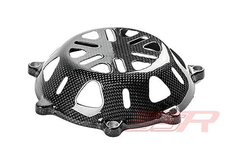 Ducati de fibra de carbono tapa del embrague en seco con ventilación (tipo 2)