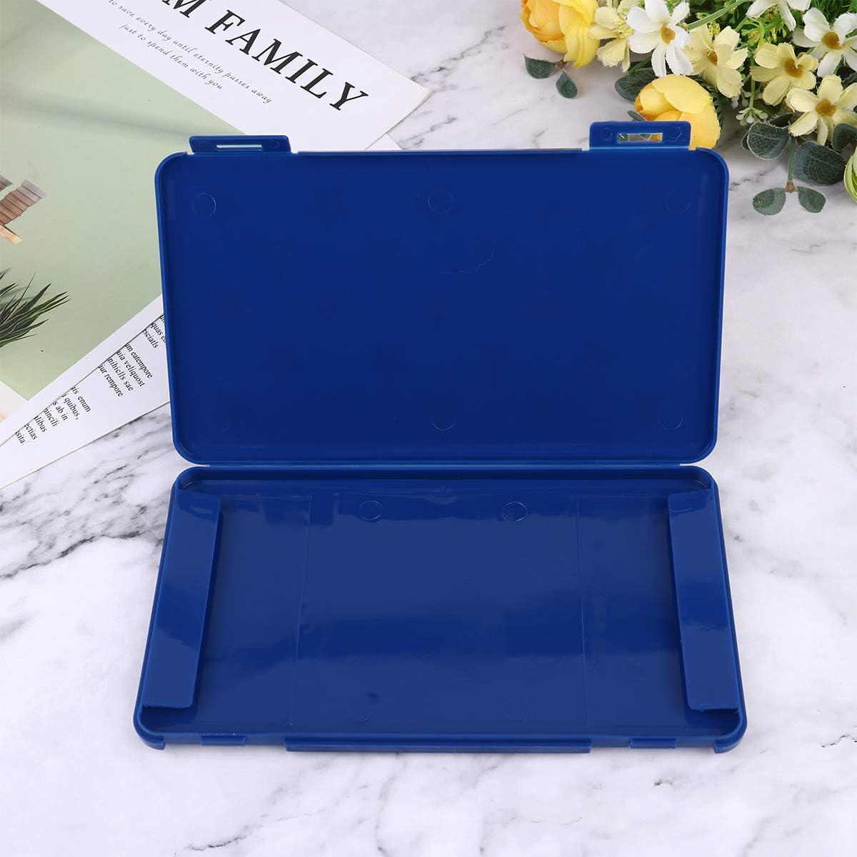 Bleu Cabilock /Étui de Rangement pour Masque Pliable Porte-Masque temporaire Portable Bo/îte de Transport de Bandage r/ésistant /à la salet/é pour Un Usage Quotidien