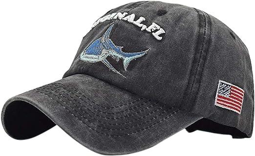 Hosaire 1x Bordado de la Letra Tiburon Gorra Unisex Sombrero de ...
