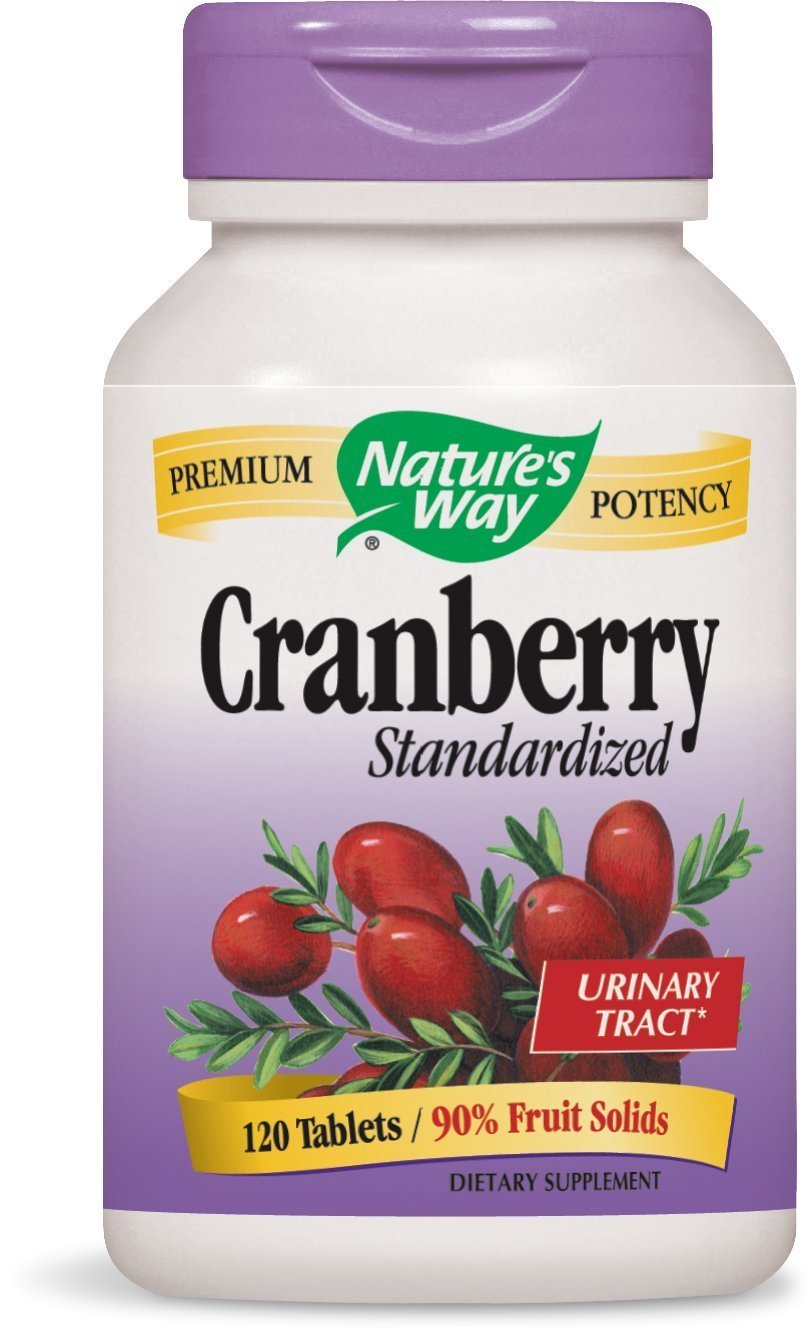 Nature's Way Standardized Cranberry; 90% Fruit Solids per serving; Gluten Free; Vegetarian; 120 Vegetarian Capsules