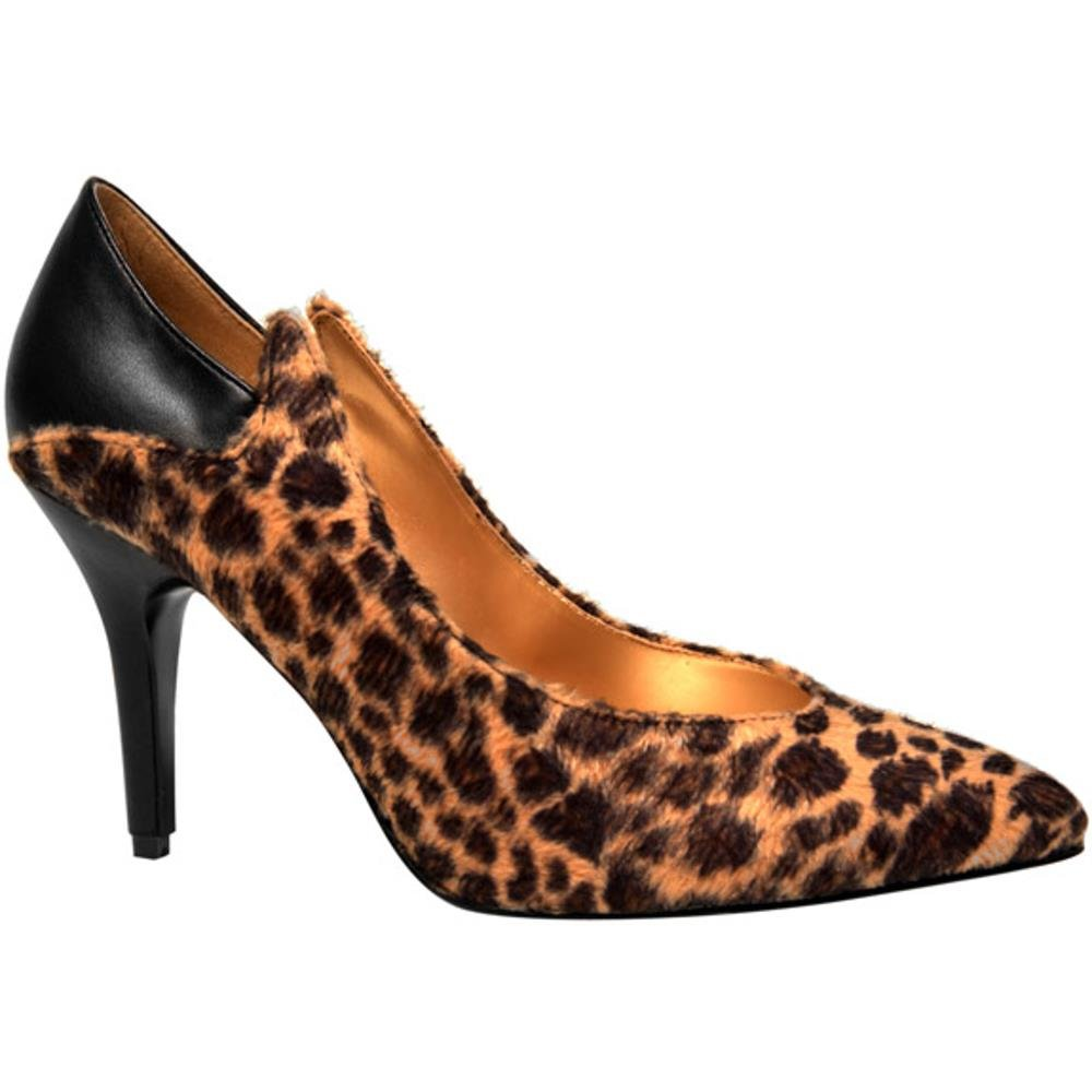 Adult 80s Cheetah Pump Shoes (Size: Large 9-10)