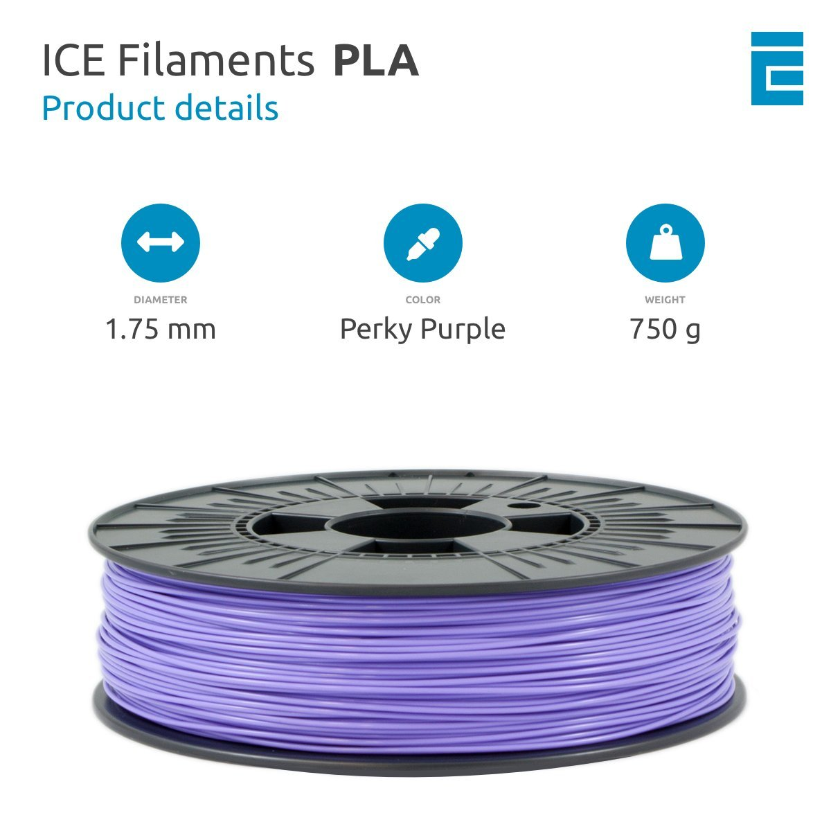 1.75 mm 0.75 kg ICE Filaments ICEFIL PLA Filament Various Colours