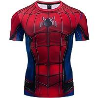 GYM GALA Spiderman Men's Compression Shirt 3D Print T-Shirt