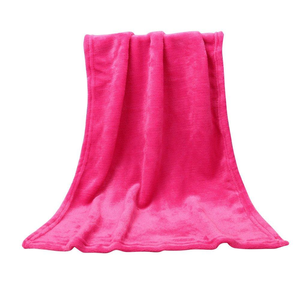 Weiliru Throw Blanket Twin Size Pink Lightweight Throw Blanket Super Soft Cozy Microfiber Blanket by Weiliru (Image #3)