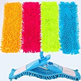 Chenille Microfiber Mop Pads, Staron Reusable Household Dust Mop Cleaning Pads Head Replacement Accessories Compatible Most Floor Mop (Blue)