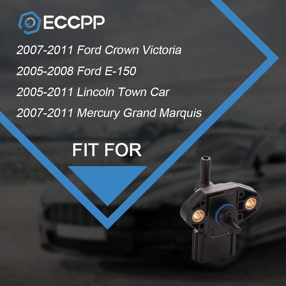 2005 Mercury Mariner MAP Sensor 2007-2011 Mercury Grand Marquis 2005-2011 Lincoln Town Car OCPTY Manifold Absolute Pressure Sensor Fits 2007-2011 Ford Crown Victoria 2005-2008 Ford E-150