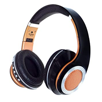 KUNCC 4.2 Auriculares Inalámbricos Bluetooth Gaming Headset Color Fashion Card FM Línea Estéreo Auriculares,Black