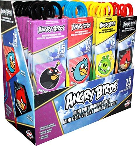 X-Kites MicroDiamond Angry Birds Assortment of PolySail Mini Kites 7-3/4
