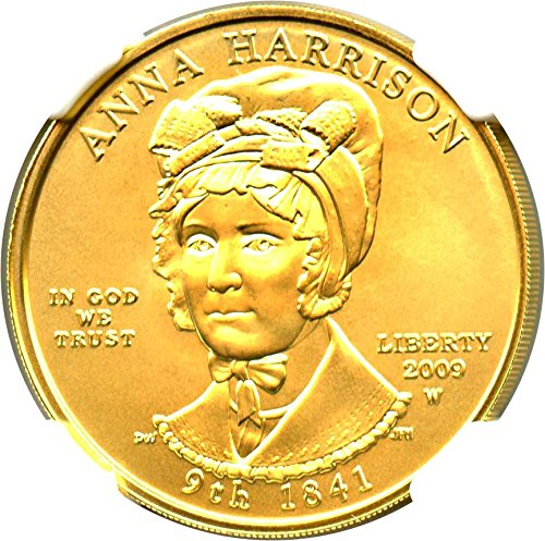 2009 W $10 First Spouse Anna Harrison Ten Dollar MS70 NGC