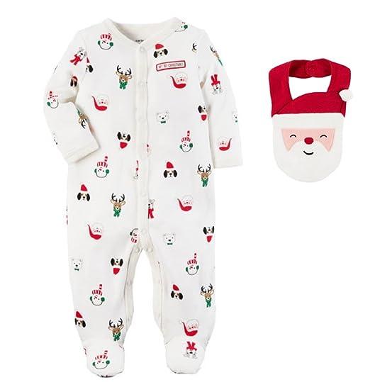 aed739b73e69 Amazon.com  Cotton Snap-Up Christmas Sleep and Play with Santa ...