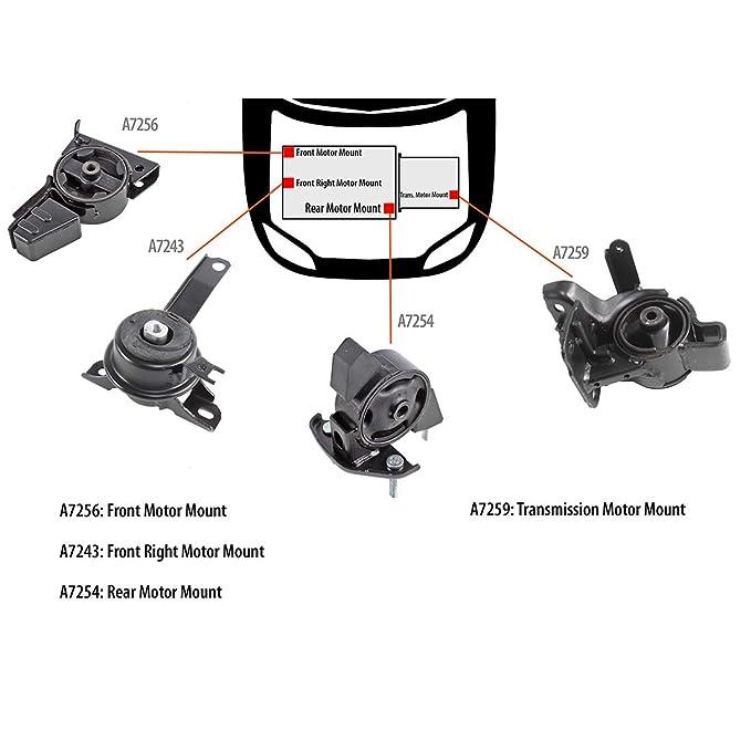 K189 Fit 98-02 TOYOTA COROLLA 1.8L Engine /& Trans Mount Set 4PCS for 3 Spd AUTO