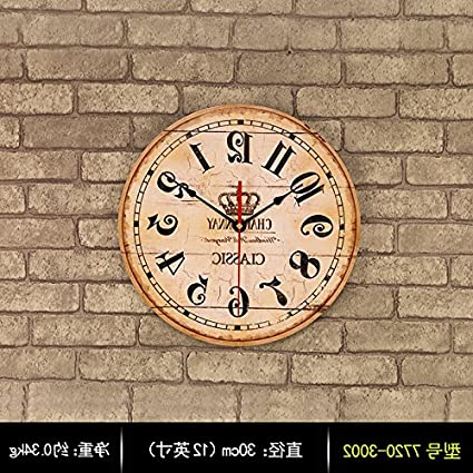 amazon com y hui clocks wall clock home bedroom living room round