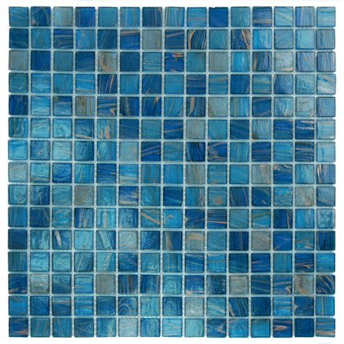(Blue Copper Glass Tile Blend 3/4