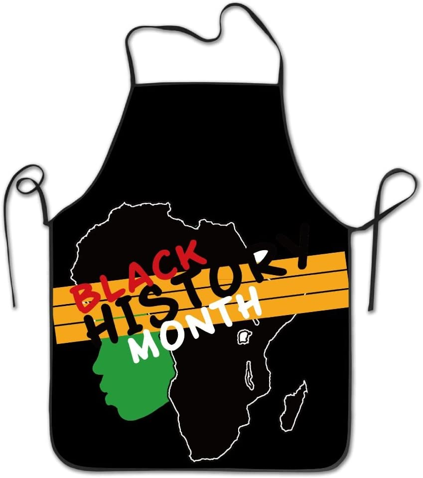 Chef Apron For Cooking,Baking,Crafting,Gardening And BBQ Novelty Black History Month Women Face Kitchen Chef Apron With Big Pockets