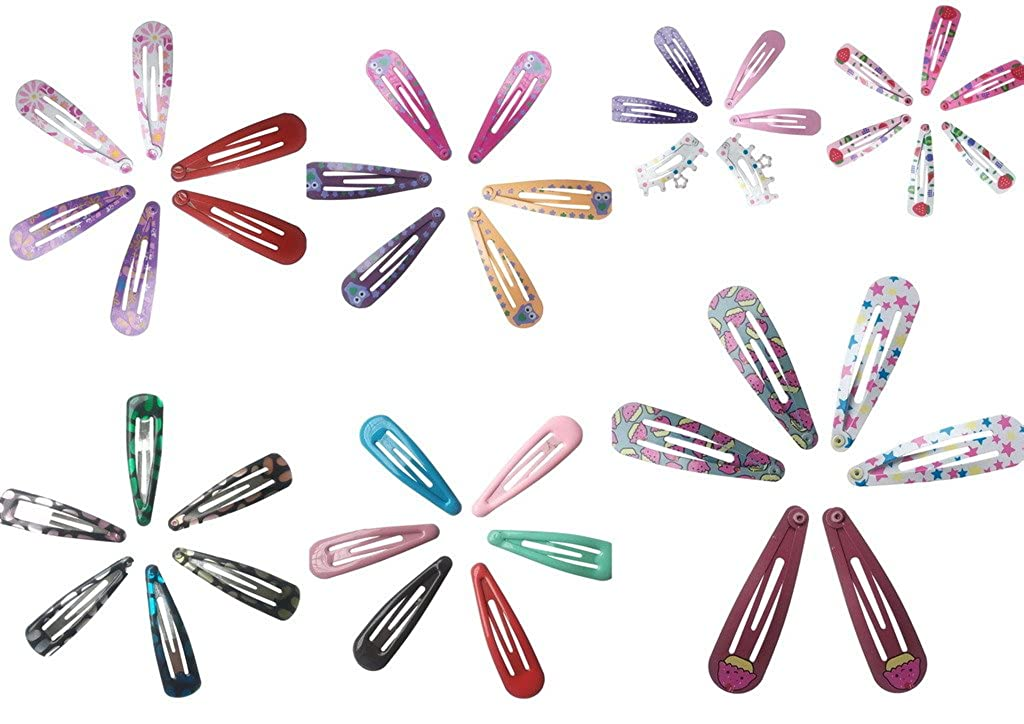 COMVIP 45mm Barrette Enfant Fille Pince /à Cheveux Chic Lot de 3 Paires