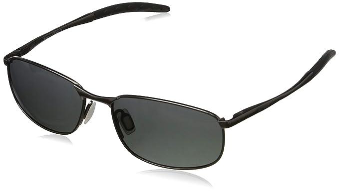 96b1a8f935 kimorn Polarizado Gafas de sol Hombre Retro Rectangulares metal Marco K0535  (Gris&Negro)