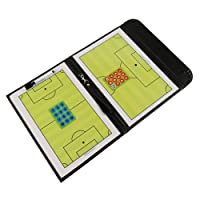 Fiturbo Folding Football Coach Board Plate Book Set With Pen Dry Erase Soccer Teaching Clip Coaching Clipboard