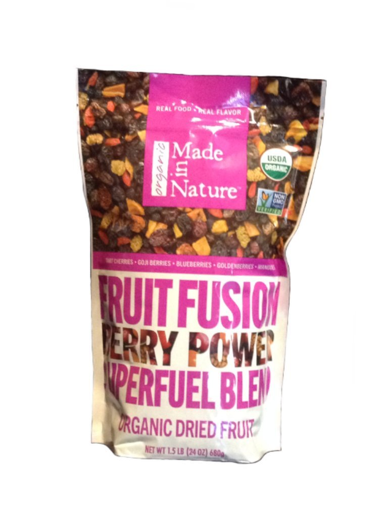 Made in Nature Organic Fruit Fusion Berry Power Superfuel Blend, 24 oz. Resealable Bag