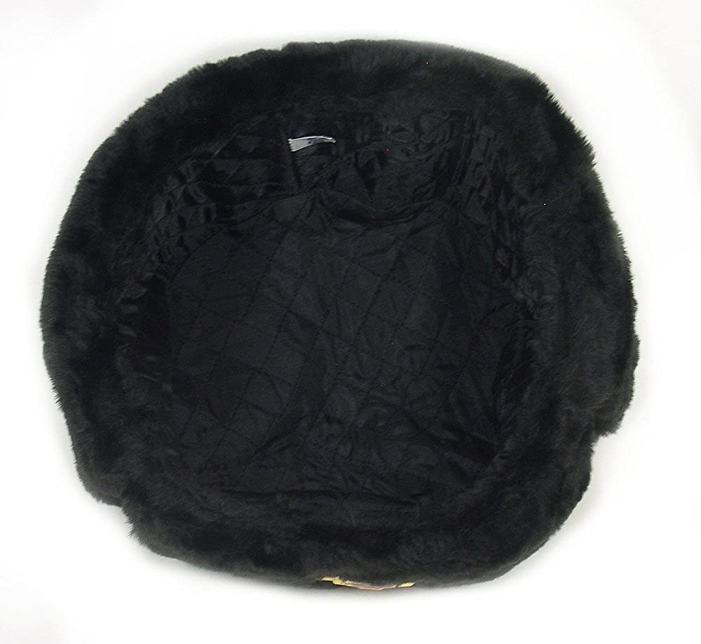 be35f8b7 Russian Military Army Winter Hat Ushanka *BLACK-L* w/Imperial Eagle Crest  Badge at Amazon Men's Clothing store: Cold Weather Hats