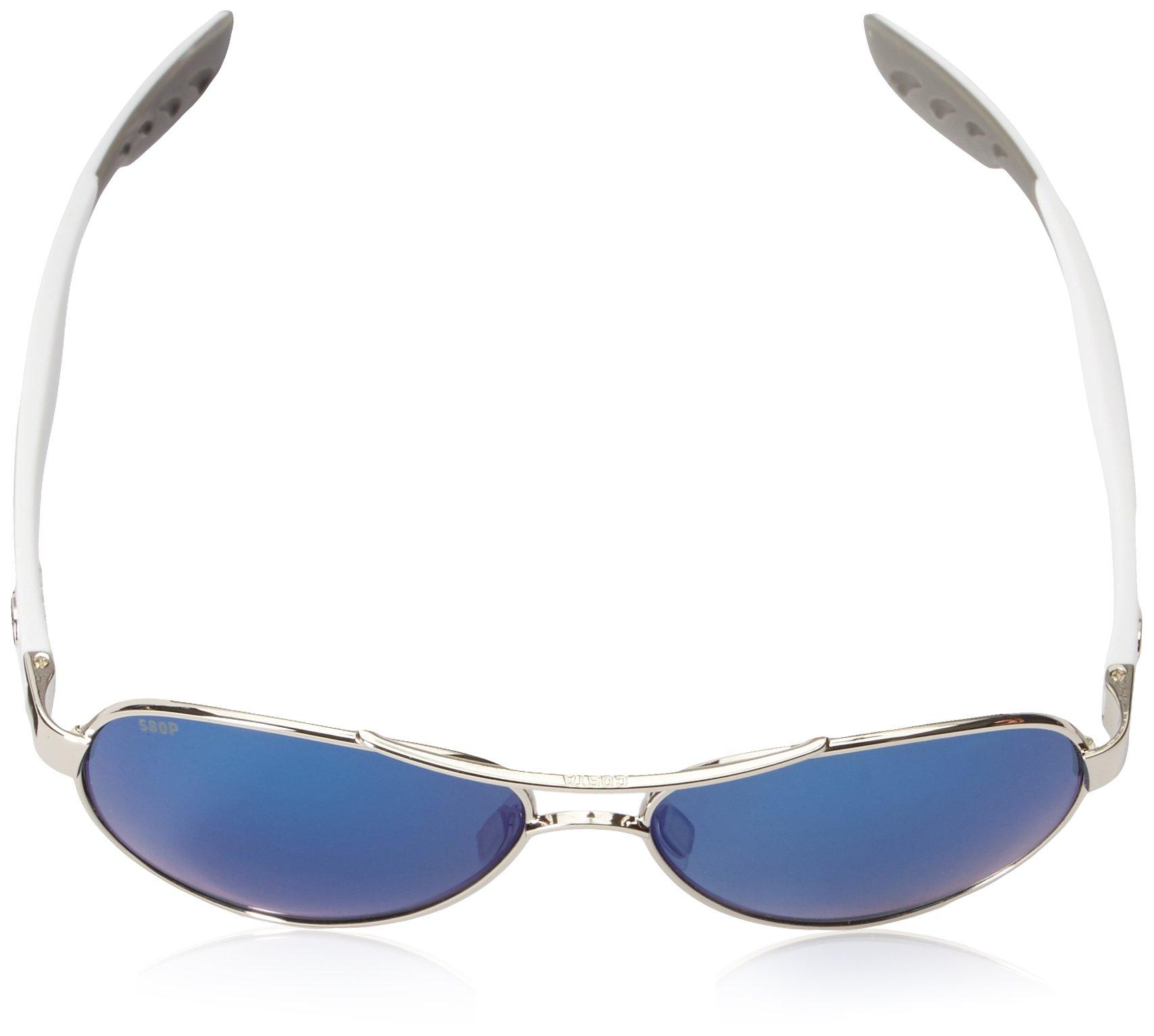 Costa del Mar Loreto Sunglasses Palladium w/White/Blue Mirror 580Plastic by Costa Del Mar (Image #4)