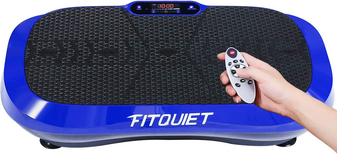 FITQUIET Vibration Plate Exercise Machine with Loop Resistance Bands - Whole Body Workout Vibration Fitness Platform Home Training Equipment for Weight Loss & Shaping