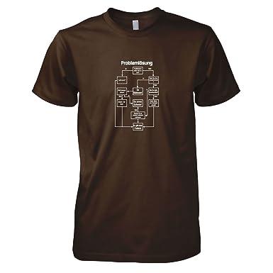 TEXLAB - Problemlösung - Herren T-Shirt, Größe S, braun