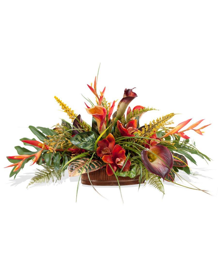 Amazon orchid calla lily silk centerpiece home kitchen mightylinksfo